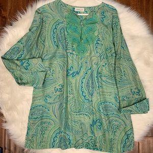 Coldwater Creek silk tunic